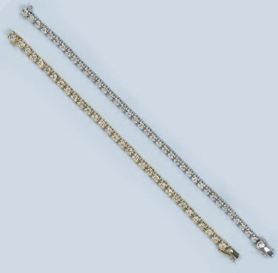 TWO DIAMOND LINE BRACELETS