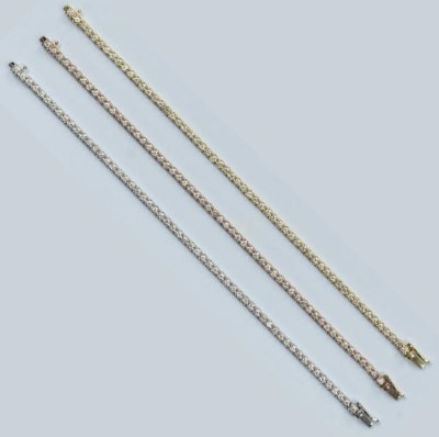 THREE DIAMOND LINE BRACELETS