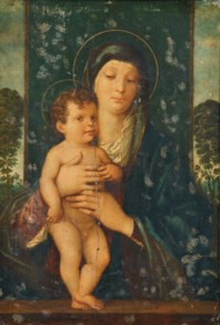 The Madonna and Child enthroned in a landscape
