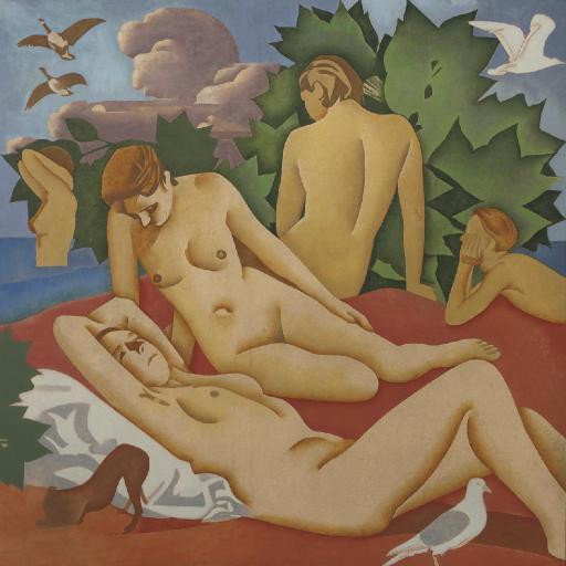 Bathing nudes