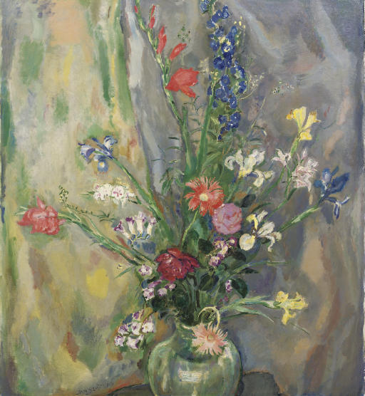 A still life with spring flowers