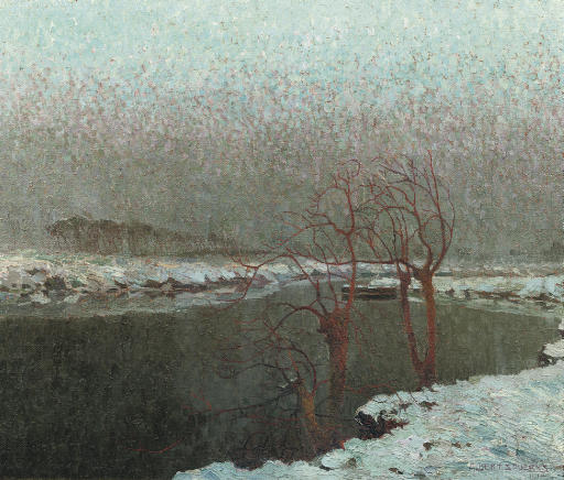 The river Lys in winter