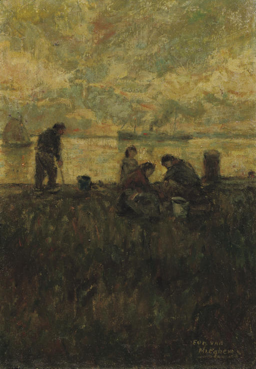 Figures on a dyke