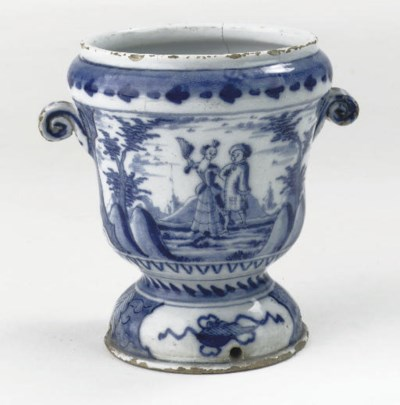 A Dutch Delft blue and white t