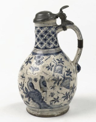 An early Delftware blue and wh