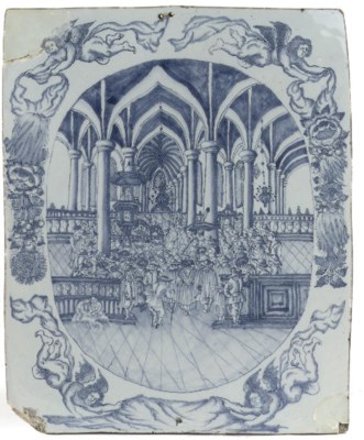 A Dutch Delft blue and white r