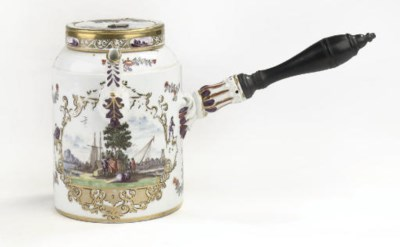 A Meissen chocolate pot and co