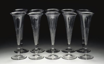 A set of ten English faceted c