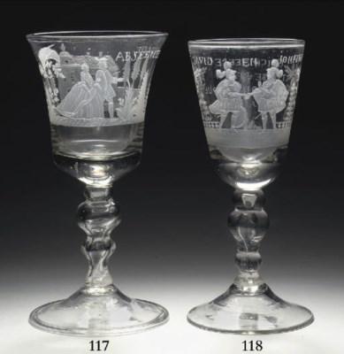 A Dutch-engraved large goblet
