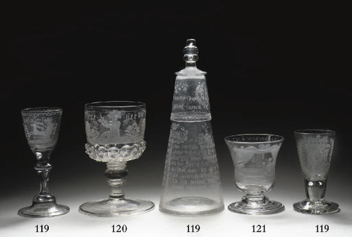 A South Bohemian engraved goblet
