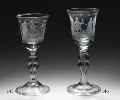 A Dutch engraved goblet