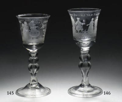 A Dutch engraved goblet