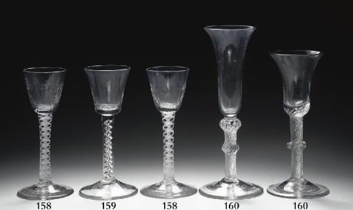 Two English airtwist wine-glas