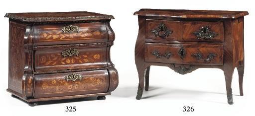 A LOUIS XV ROSEWOOD, TULIPWOOD