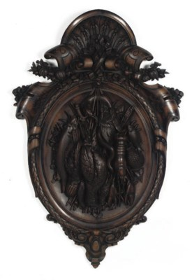 A DUTCH CARVED AND STAINED WAL