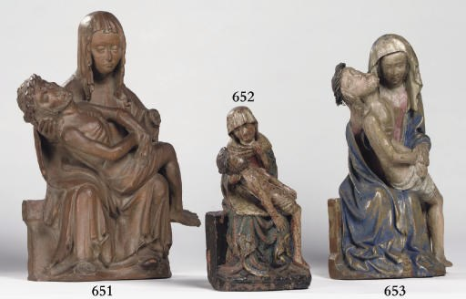 A TERRACOTTA GROUP OF THE PIET