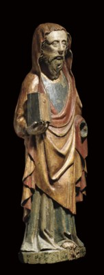 A POLYCHROME CARVED WOOD FIGUR