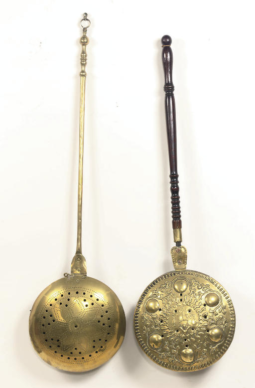 TWO VARIOUS BRASS, COPPER AND