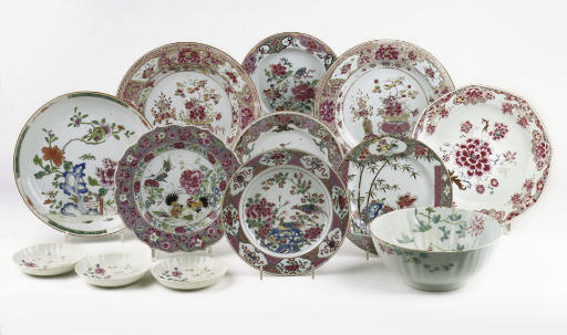 An assorted group of Chinese famille rose porcelain