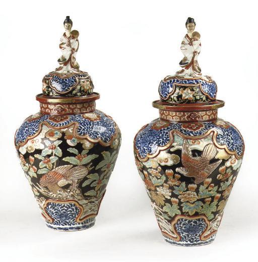 A pair of Samson Imari-style j