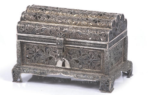 A fine dutch silver filigree c