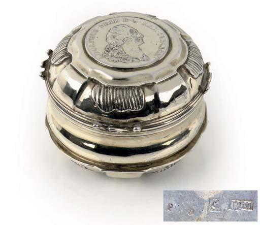 A Swedish silver-gilt snuff-bo