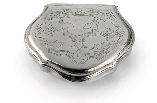 A Continental silver snuff-box
