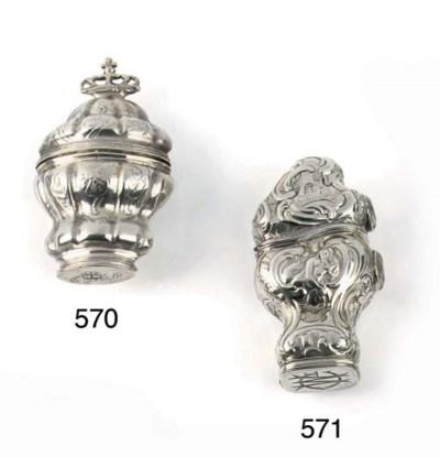 A Danish silver scent-box