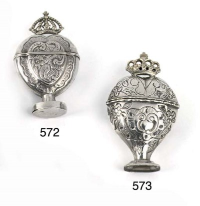 A German silver snuff-box