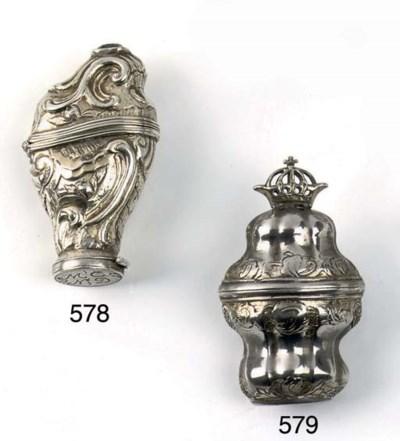 A Scandinavian silver-gilt sce