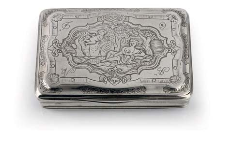 A Norwegian silver snuff-box