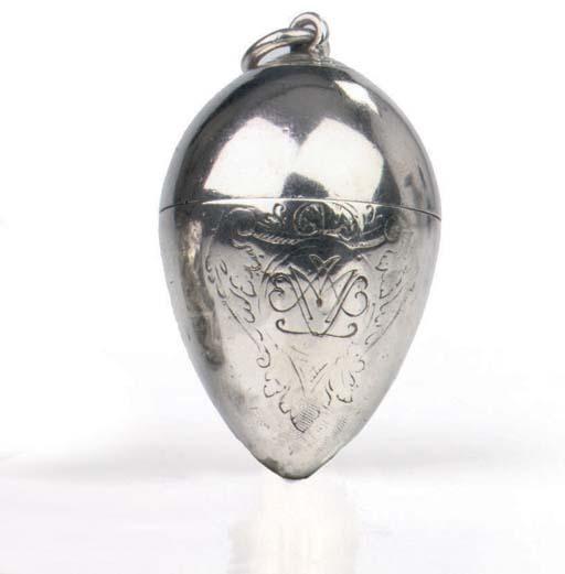 A Scandinavian silver scent-bo