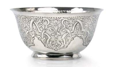A German silver bowl
