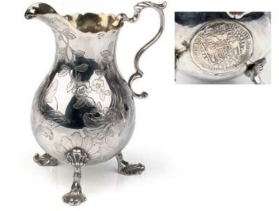 A Baltic silver cream-jug