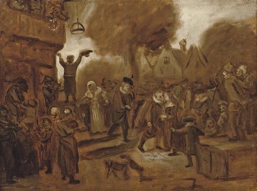 A Sketch: A peasant wedding in a village