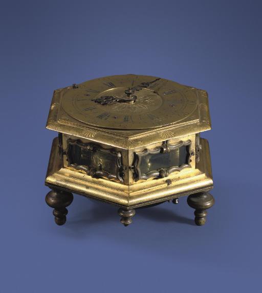 A Polish gilt-brass quarter-st