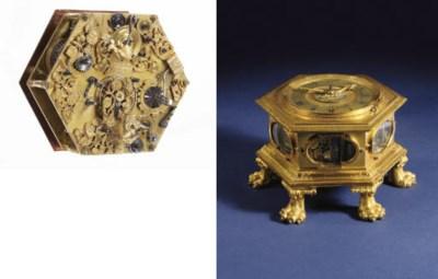 A German large engraved gilt-b