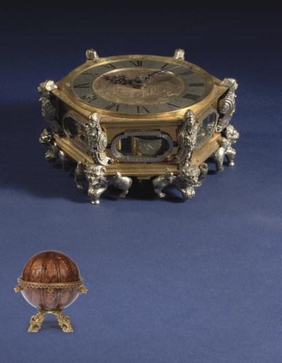 A Polish engraved gilt-brass a