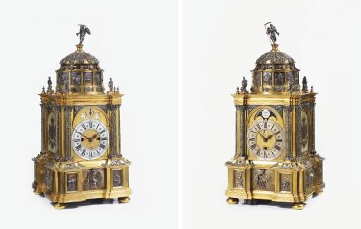 An impressive Dutch gilt-brass