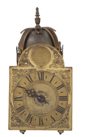 A George III small brass timep
