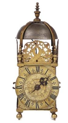 An English brass timepiece lan