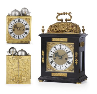 A Charles II ebony and brass-m