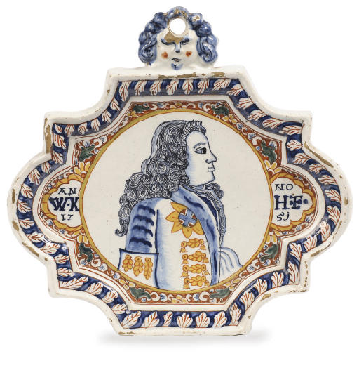 A Dutch Delft polychrome dated