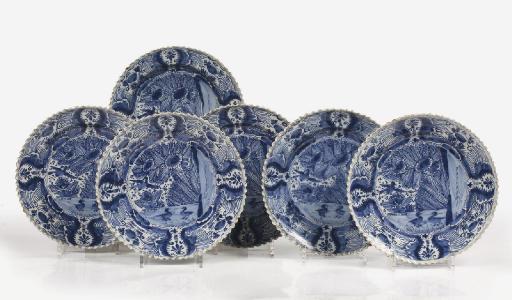 A set of six Dutch Delft blue