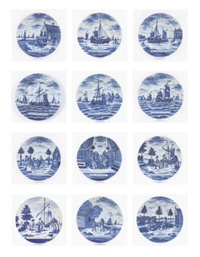 A series of eleven Dutch Delft