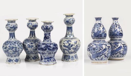 Six Dutch Delft various blue a