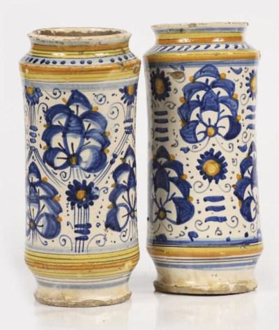 Two Tuscan maiolica polychrome