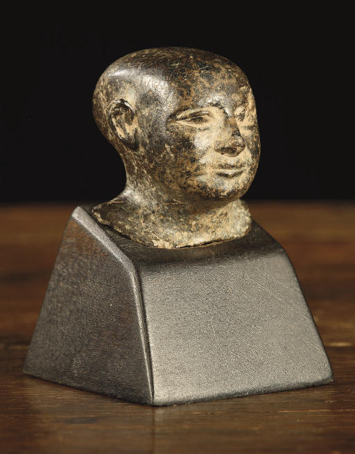 An Egyptian granodiorite head