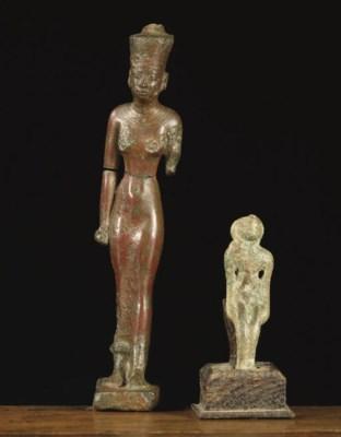 An Egyptian figure of the godd