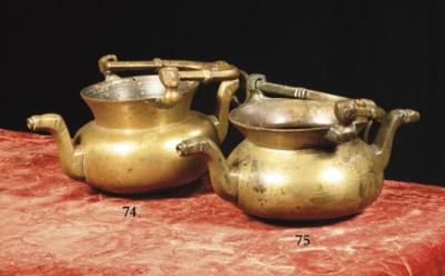 A brass lavabo
